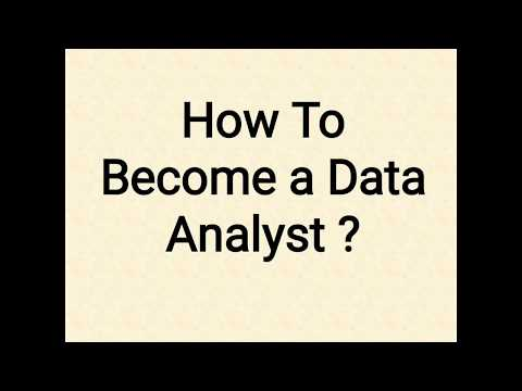 How to Become A Data Analyst?
