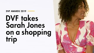 DVF AWARDS: DVF takes Sarah Jones On a Shopping Trip for the Award Show