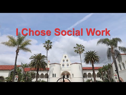 """SDSU Social Work - """"I Chose Social Work"""" by BSW students from 2017"""