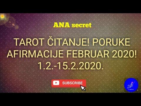 TAROT ČITANJE! PORUKE I AFIRMACIJE FEBRUAR 2020! 1.2.-15.2.2020. #anasecret #tarot #astro