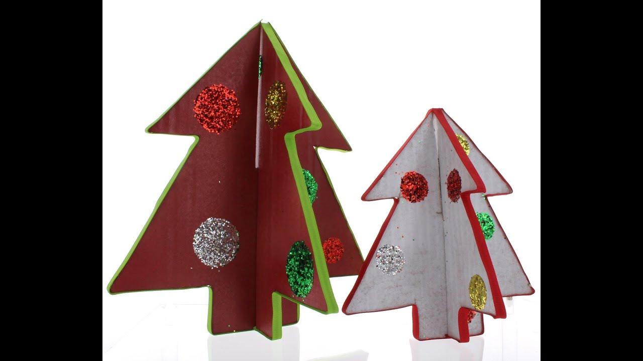 Cardboard Christmas Tree Craft Tutorial  YouTube