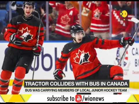 Canada: Hockey players bus collides with tractor, 3 critical and 14 killed