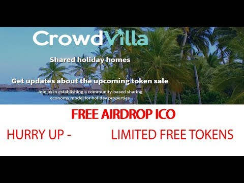 Free Crypto Token | Crowd Villa | Get Free Airdrop - Latest Block chain Holiday House Shared