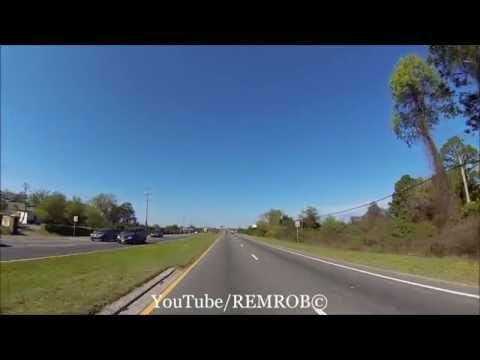 Driving Off Amelia Island, From Fernandina Beach Florida