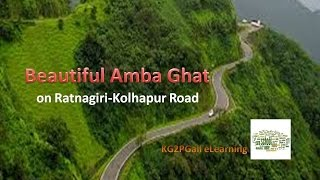 Beautiful Amba Ghat on Ratnagiri-  Kolhapur Road in Maharashtra, India...