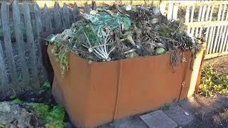 Как я делаю компост на своем огороде