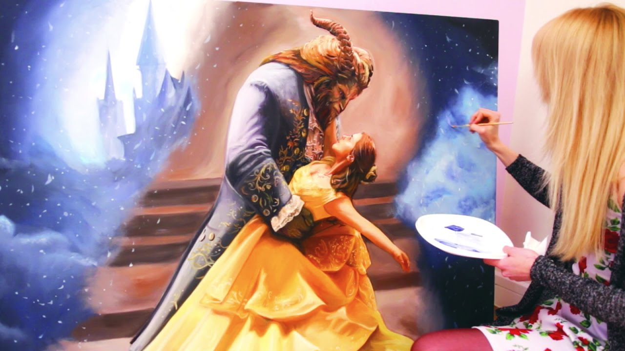 Beauty and the Beast Painting