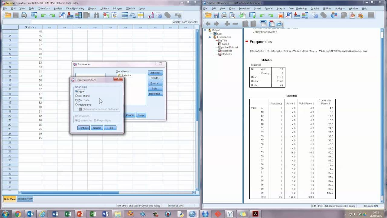 How To    Calculate the Mean, Median, and Mode in SPSS