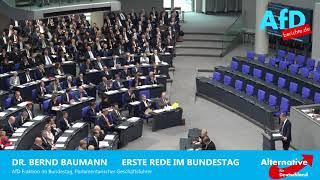 Grandios, die erste Rede der AfD im Bundestag von Bernd Baumann