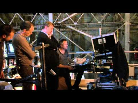 How were gravity fight scenes in inception filmed by Christopher Nolan