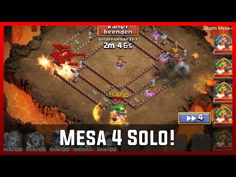 Mesa 4 Solo! - Mainaccount | Castle Clash [Deutsch]