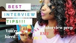 BEST Interview Tips for Getting A Hospital Job (PCT|CNA|EMT)