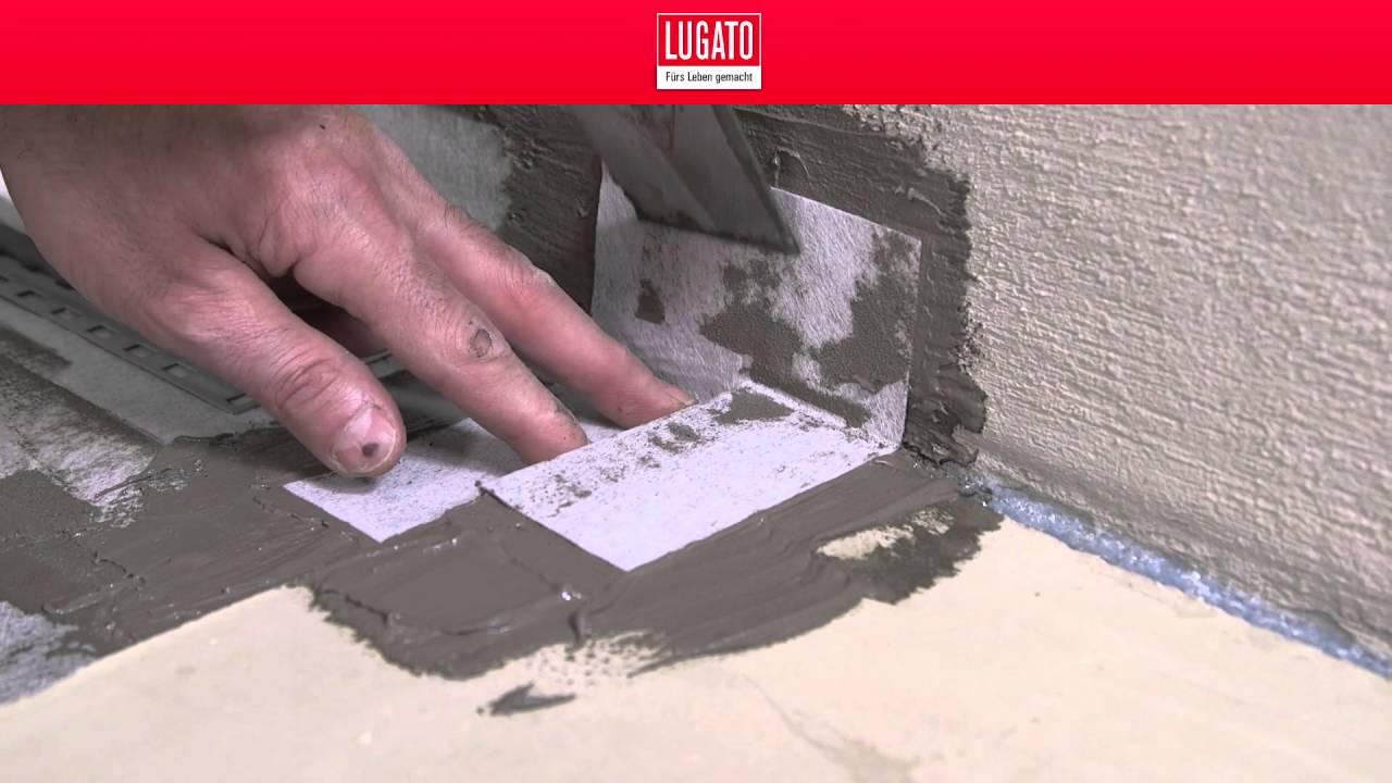 Wand und Boden abdichten Teil 2/5 LUGATO - YouTube | {Duschwanne abdichten wand 52}