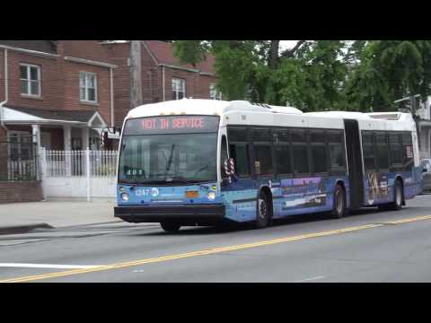 MTA BRONX ARTICULATED BUS ACTION AT CASTLE HILL AVENUE AND BRUCKNER BLVD