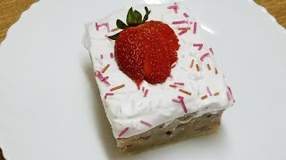 Microwave Tres leche strawberry cake||How to make A Microwave Tres leche cake at home by kitchen wit