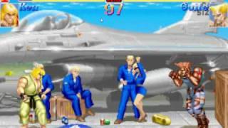 ]-[auler  (ken)  Hyper street fighter 2  MAME thumbnail