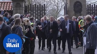 Prince Harry arrives at Twickenham Stadium for Six Nations match