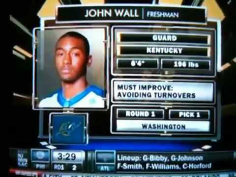 John Wall Drafted #1 Pick in 2010 NBA Draft