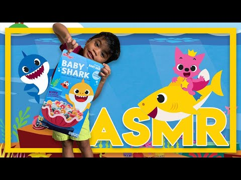 Kellogg's Baby Shark Cereal REVIEW | ASMR Eating Sounds