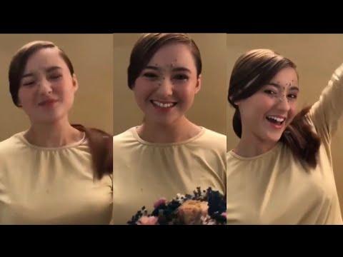 Hannah Delisha Pan Asian looks di sesi 'Photoshoot' Majalah.. Sampai terbersin dia...
