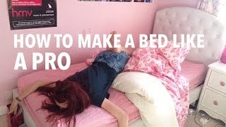 One of Holly Laing's most viewed videos: HOW TO MAKE A BED LIKE A PRO