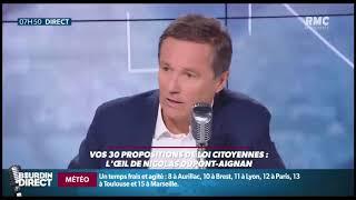 RMC-Bourdin Direct /Vos 30 propositions de Lois Citoyennes : Invité Nicolas Dupont-Aignan