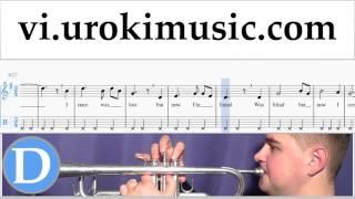 Học Kèn Trumpet Amazing - Grace Nốt Nhạc Bài Hát Phần#2 um-b687