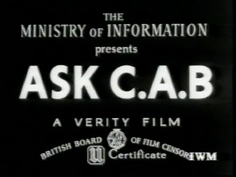 Ask CAB - 1942 Ministry of Information film (IWM archives)