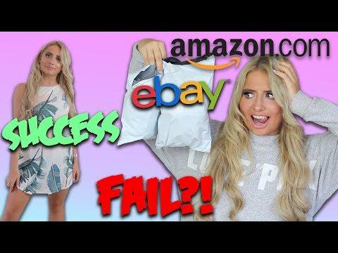 TRYING ON SUMMER PARTY DRESS UNDER £10!!! Ebay VS Amazon!
