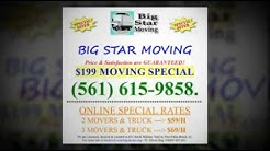 moving company west palm beach $199 Moving Special (561)615-9858.