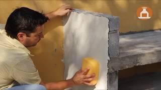 Aplicación de Mortero Decorativo En Asador