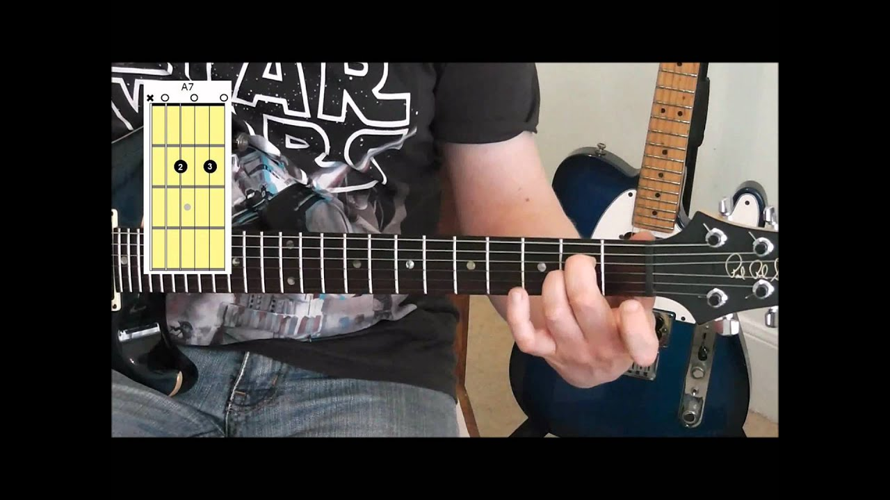 How To Play Open Dominant 7th Chords C7 A7 G7 E7 D7 On Guitar Youtube