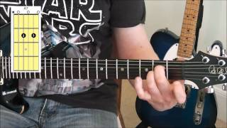 how to play open dominant 7th chords c7 a7 g7 e7 d7 on guitar