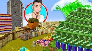 Atak ZOMBIE na MOJĄ WIOSKĘ w Minecraft!