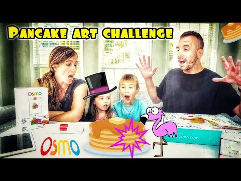 Challenge Accepted! Pancake Art Challenge with Osmo Masterpiece Interactive App | Flamingo Friday!
