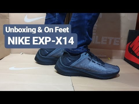 best service 609e2 86342 Unboxing   On Feet Nike EXP-X14 Black Dark Grey   Triple Black