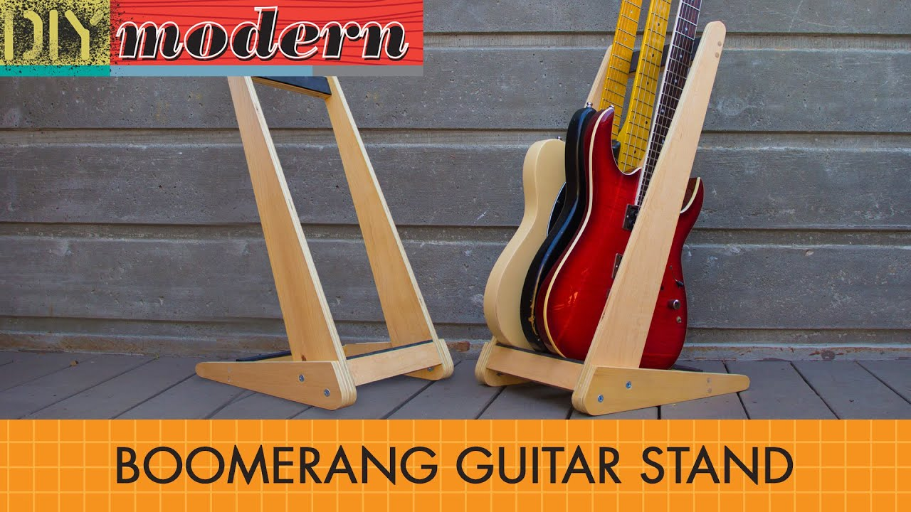 How To Make A Modern Guitar Stand Youtube