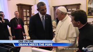 Historic Meeting Between Pope Francis and President Obama Video