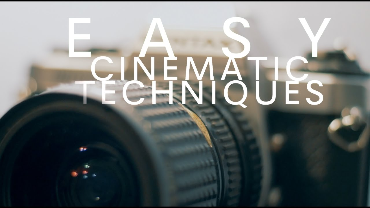 CINEMATIC Filmmaking Techniques!