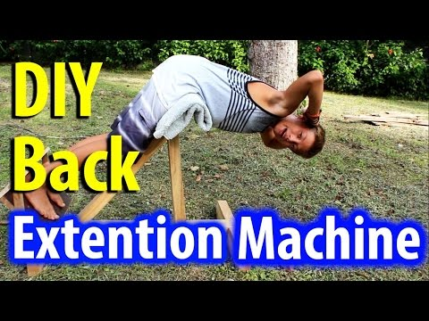 Home Made Lower Back Extention Machine - DIY Gym Equipment - Kid Prepper
