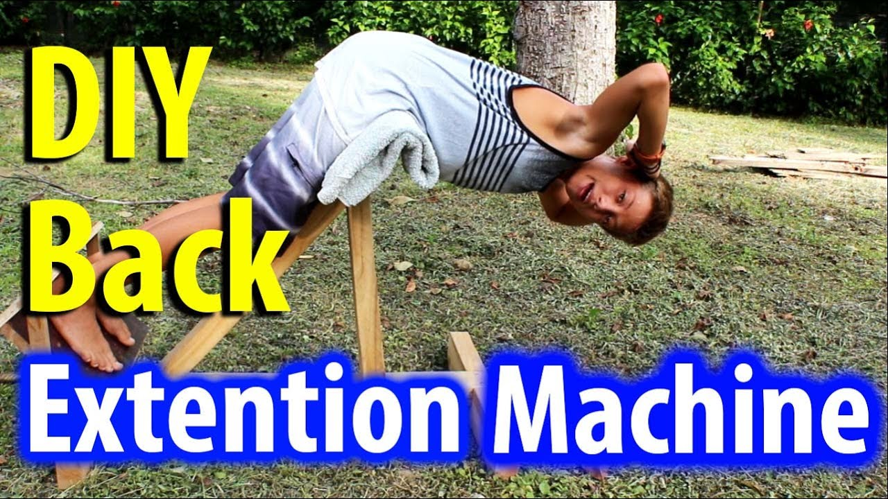 Home Made Lower Back Extention Machine Diy Gym Equipment Kid