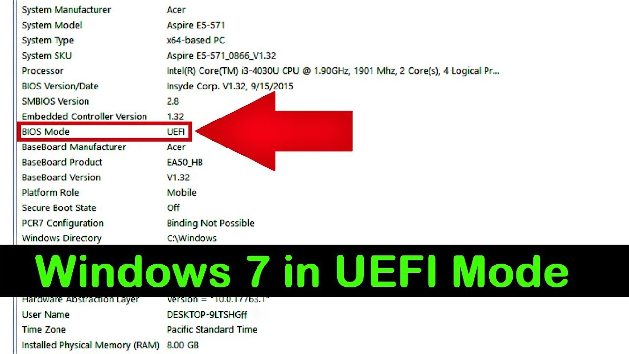 How to Install Windows 7 in UEFI Mode (Complete Tutorial)