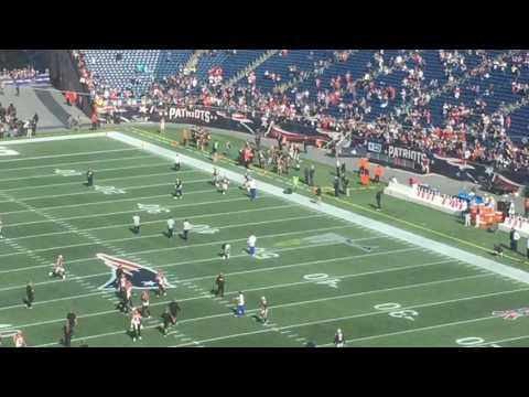 Patriots QB Tom Brady takes the field at Gillette Stadium