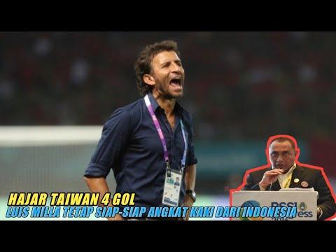 Hajar Taiwan 4 Gol, Luis Milla Tetap SiapSiap Angkat Kaki dari Indonesia