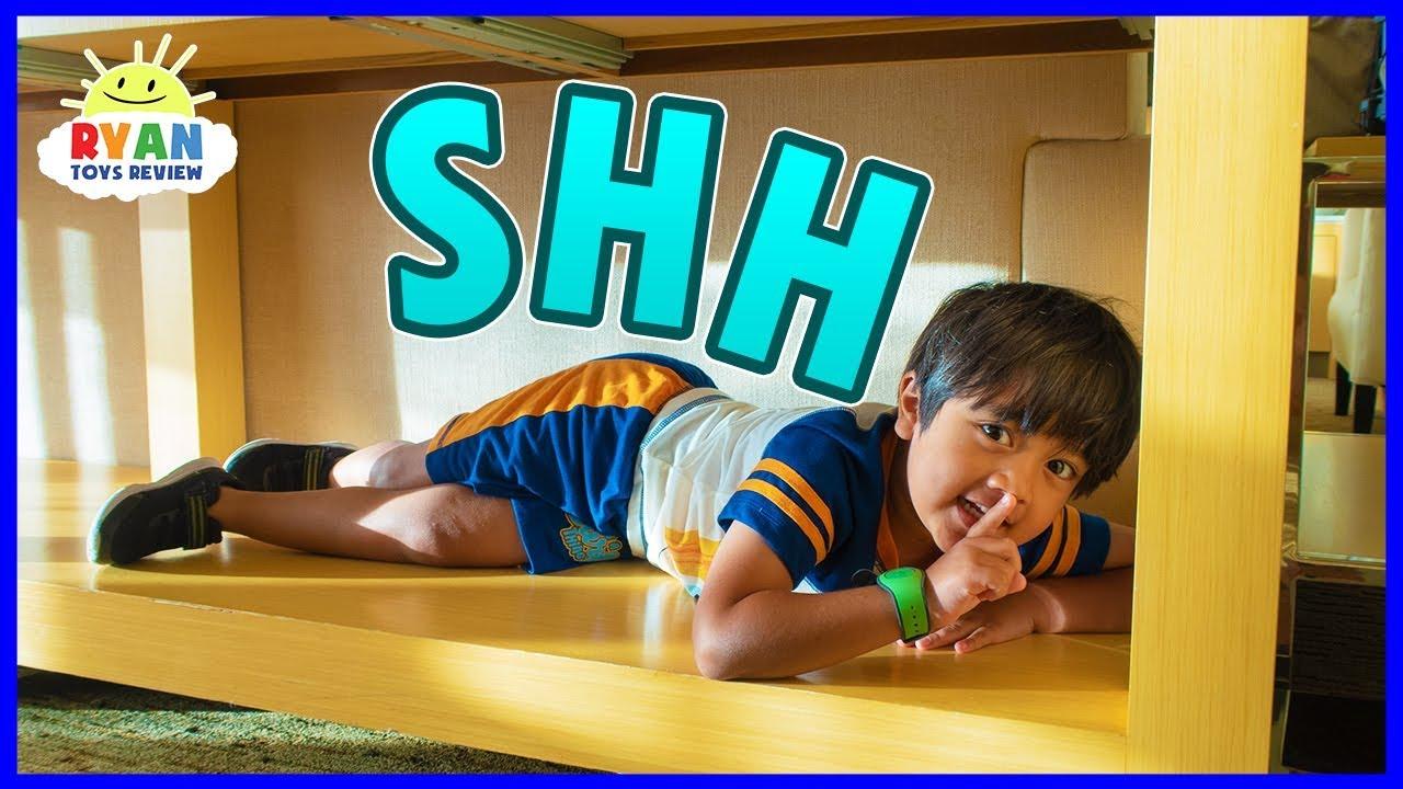 Best Hiding Spot In Disney Hotel Hide And Seek Pretend Play With Ryan