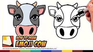 How to Draw a Cute Cow Emoji for Beginners | BP