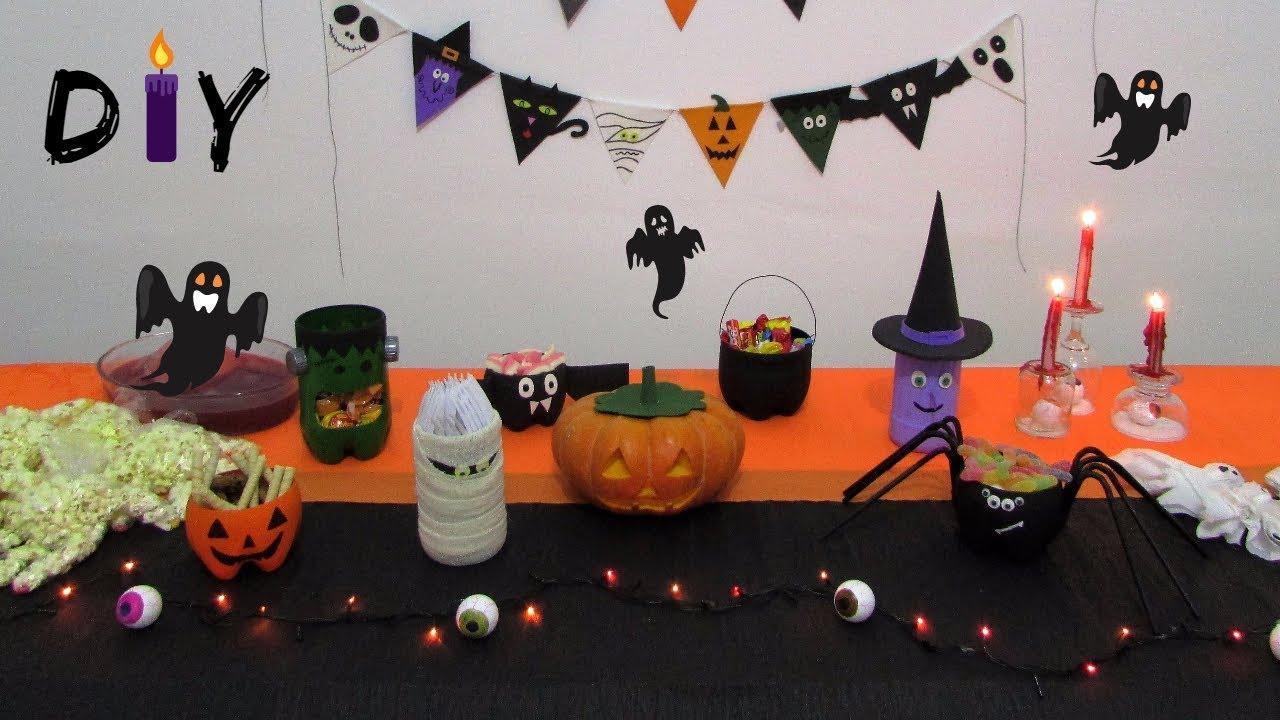 DIY Decoraç u00e3o Halloween 5 idéias super fáceis de fazer YouTube -> Decoração Simples De Halloween