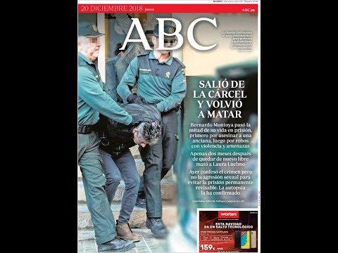 #Noticias Jueves 20 Diciembre 2018 Principales Portadas Diarios Periódicos España Spain #News