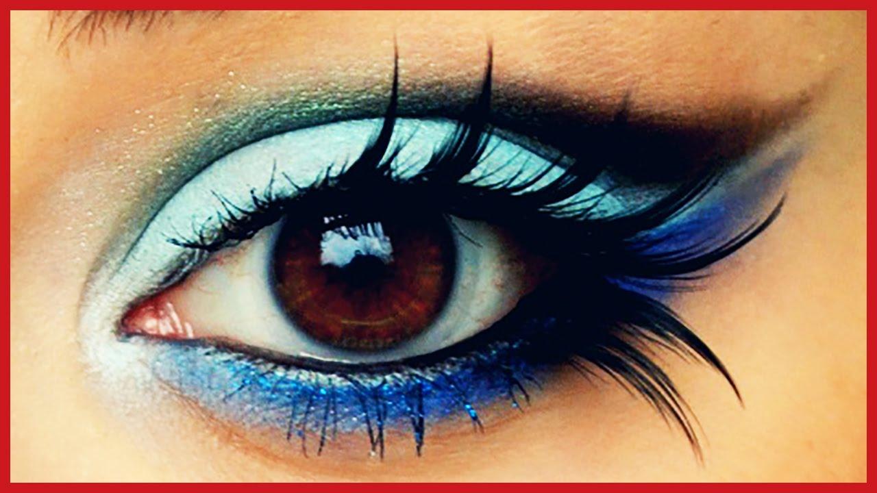 10 Estilos de Ojos de Fantasía en Tonos Azules ♥ Maquillaje  Tips de  Belleza