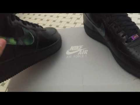 Nike Air Force High Oil Slick Unboxing Review On Foot